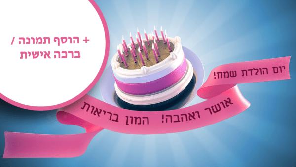 מגנטה - ברכות ליום הולדת, מסגרות לברכות עם תמונות ליום הולדת שמח - עוגת יום הולדת שמח!