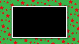 מסגרת לברכה ליום הולדת כוכבים אדומים רקע ירוק