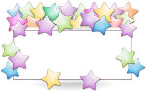 מסגרת לברכה ליום הולדת כוכבים