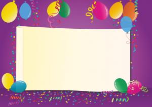 מסגרת לברכה ליום הולדת - יום הולדת שמח בלונים (1)