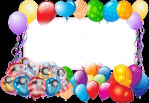 מסגרת לברכה ליום הולדת - יום הולדת שמח בלונים (2)