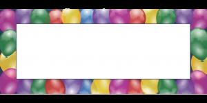 מסגרת לברכה ליום הולדת - יום הולדת שמח בלונים (3)