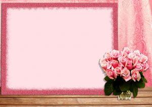 מסגרת לברכה ליום הולדת - פרחים (2)