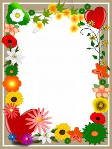מסגרת לברכה ליום הולדת - פרחים (3)