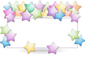 מסגרת לברכה ליום הולדת – יום הולדת שמח כוכבים – 3