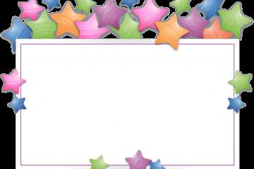 מסגרת לברכה ליום הולדת – יום הולדת שמח כוכבים – 4