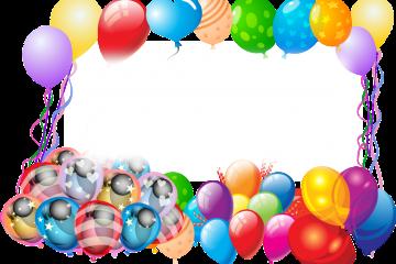 מסגרת לברכה ליום הולדת – יום הולדת שמח בלונים – 2