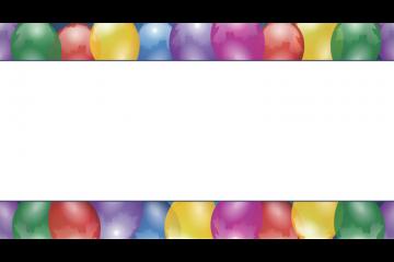 מסגרת לברכה ליום הולדת – יום הולדת שמח בלונים – 3