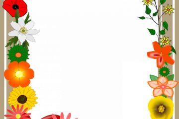 מסגרת לברכה ליום הולדת – יום הולדת שמח פרחים – 5