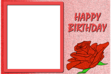 מסגרת לברכה ליום הולדת – יום הולדת שמח פרחים – 6