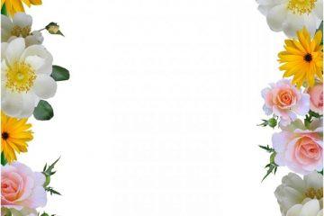 מסגרת לברכה ליום הולדת – יום הולדת שמח פרחים – 8