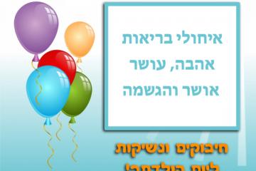 תמונה ליום הולדת עם מסגרת לברכה – רקע בלונים